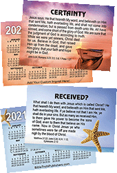 2021 Custom Gospel Pocket (Wallet) Calendar: Personalized Edition, per Specified Imprint