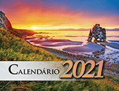 2021 Portuguese The Gospel of Peace Scenic Appointment Calendar: With Monthly Gospel Verses