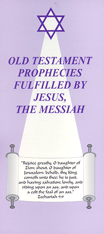 Old Testament Prophecies Fulfilled By The Messiah Chart