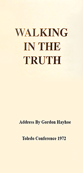 Walking in the Truth by Gordon Henry Hayhoe