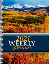 2021 Inspirational Weekly Planner: Desk Edition