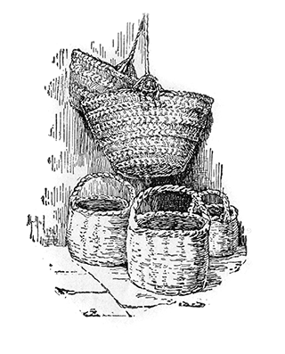 Baskets of Palestine Made of Plaited Reeds