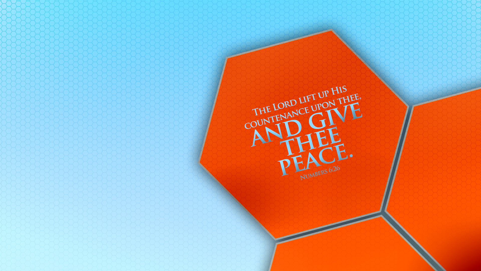 Orange Honeycomb–Numbers 6:26–Wallpaper