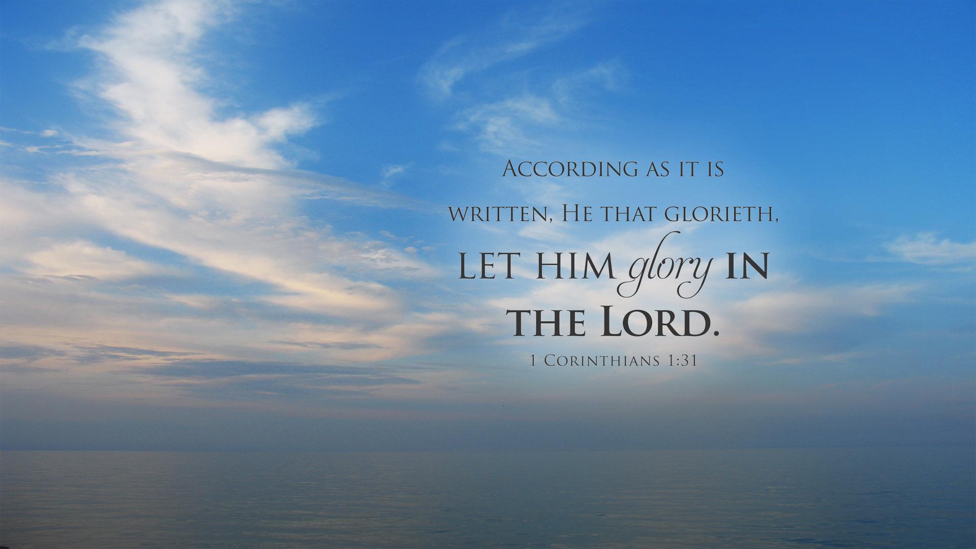 Ocean–1 Corinthians 1:31–Wallpaper