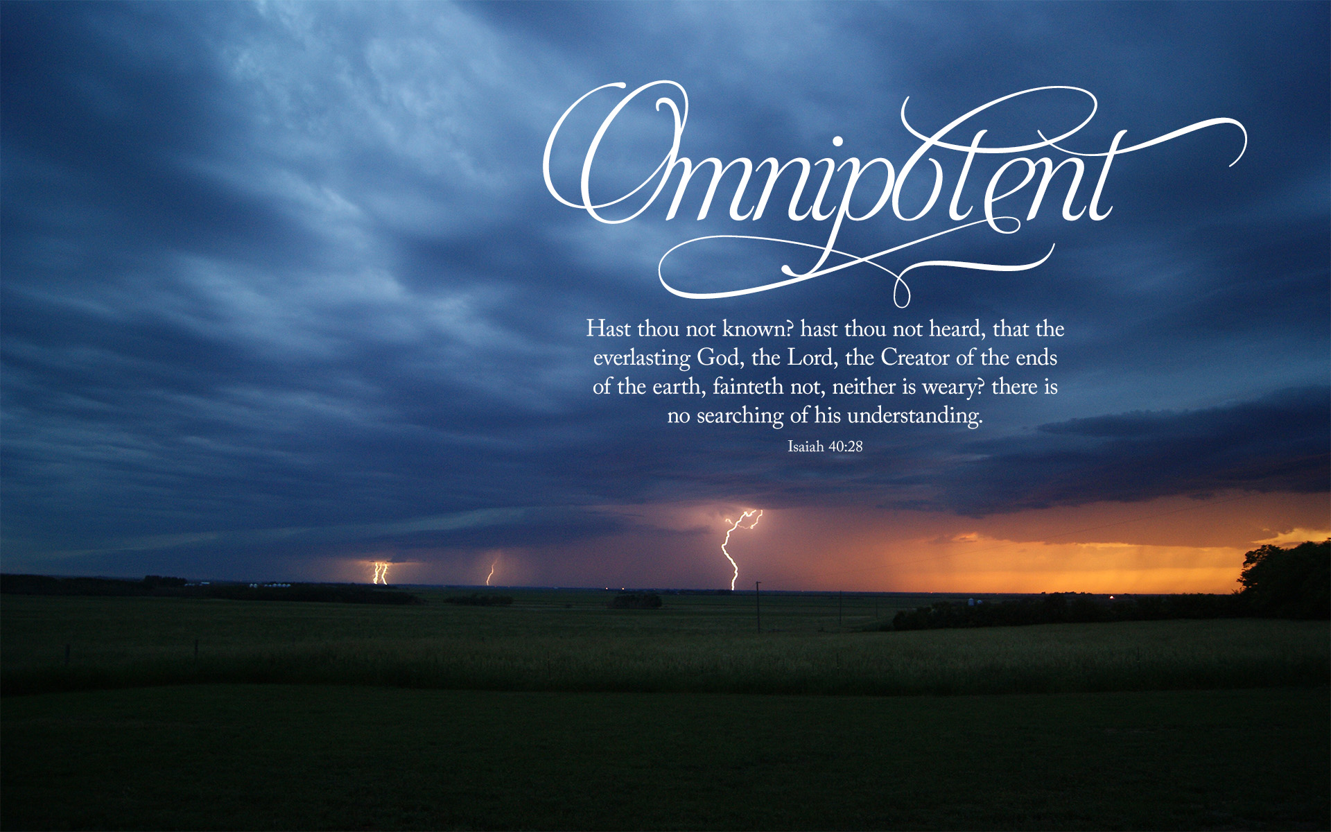 Lightning Omnipotent–Isaiah 40:28–Wallpaper
