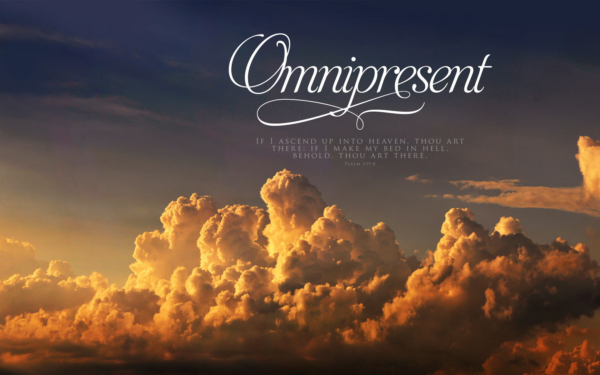 Clouds Omnipresent–Psalm 139:18–Wallpaper