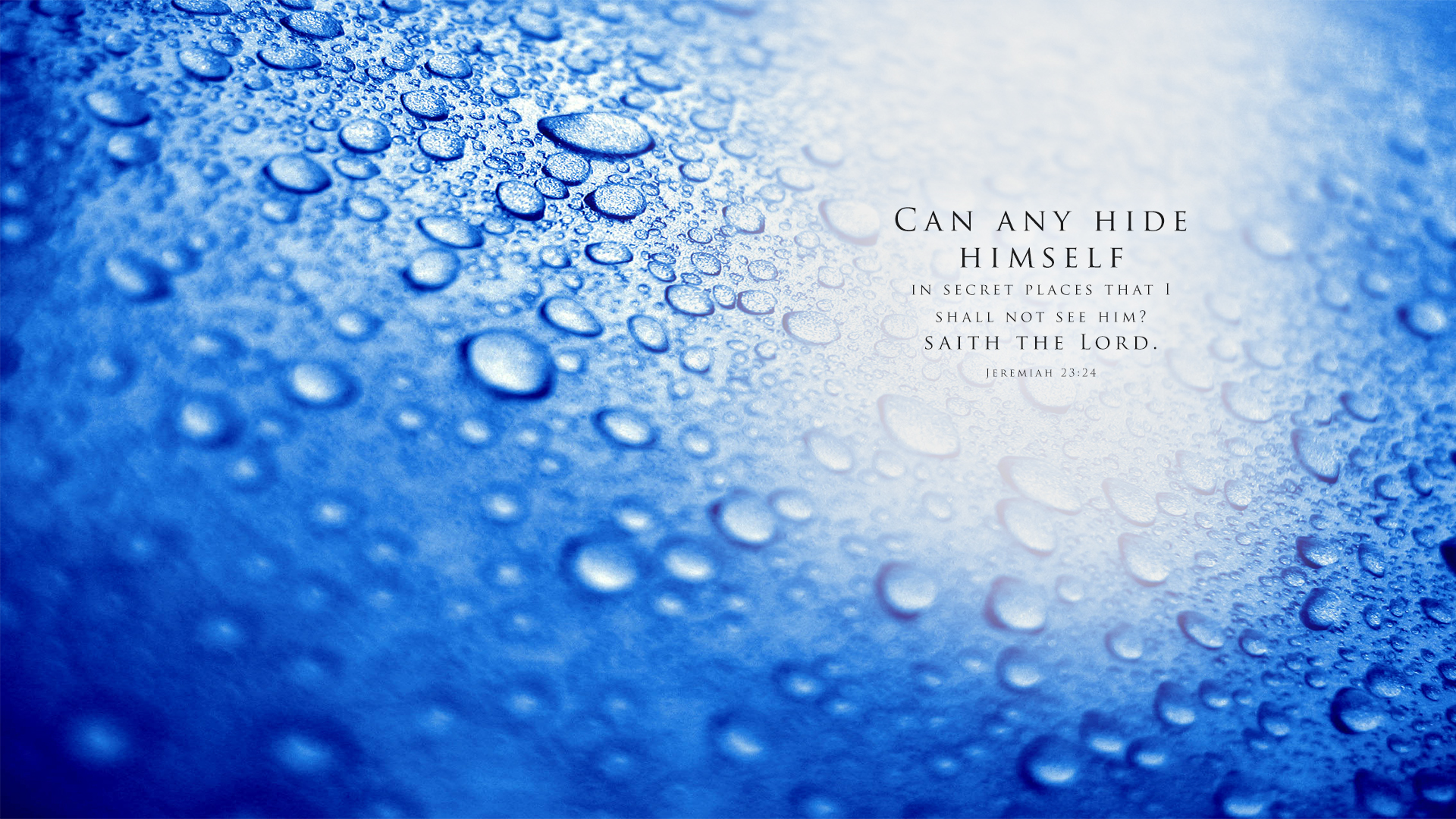 Water Droplets–Jeremiah 23:24–Wallpaper
