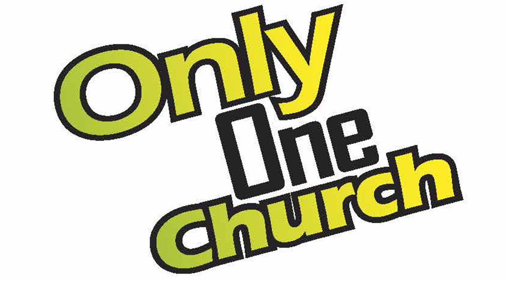 Only One Church–Large Print Tract