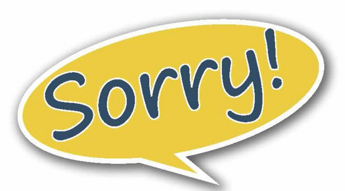Sorry!–Large Print Tract