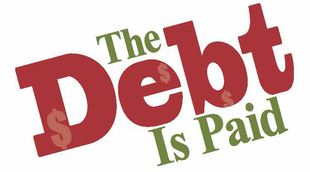 The Debt Is Paid–Large Print Tract